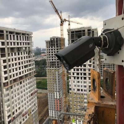 Видеонаблюдение на стройке